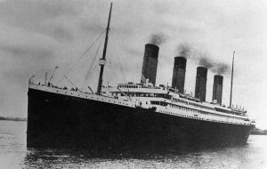 Original caption: 4/15/1912-Photo of the Titanic on its maiden voyage. This was the trip on which it sunk. Filed 2/21/1938. ca. April 1912